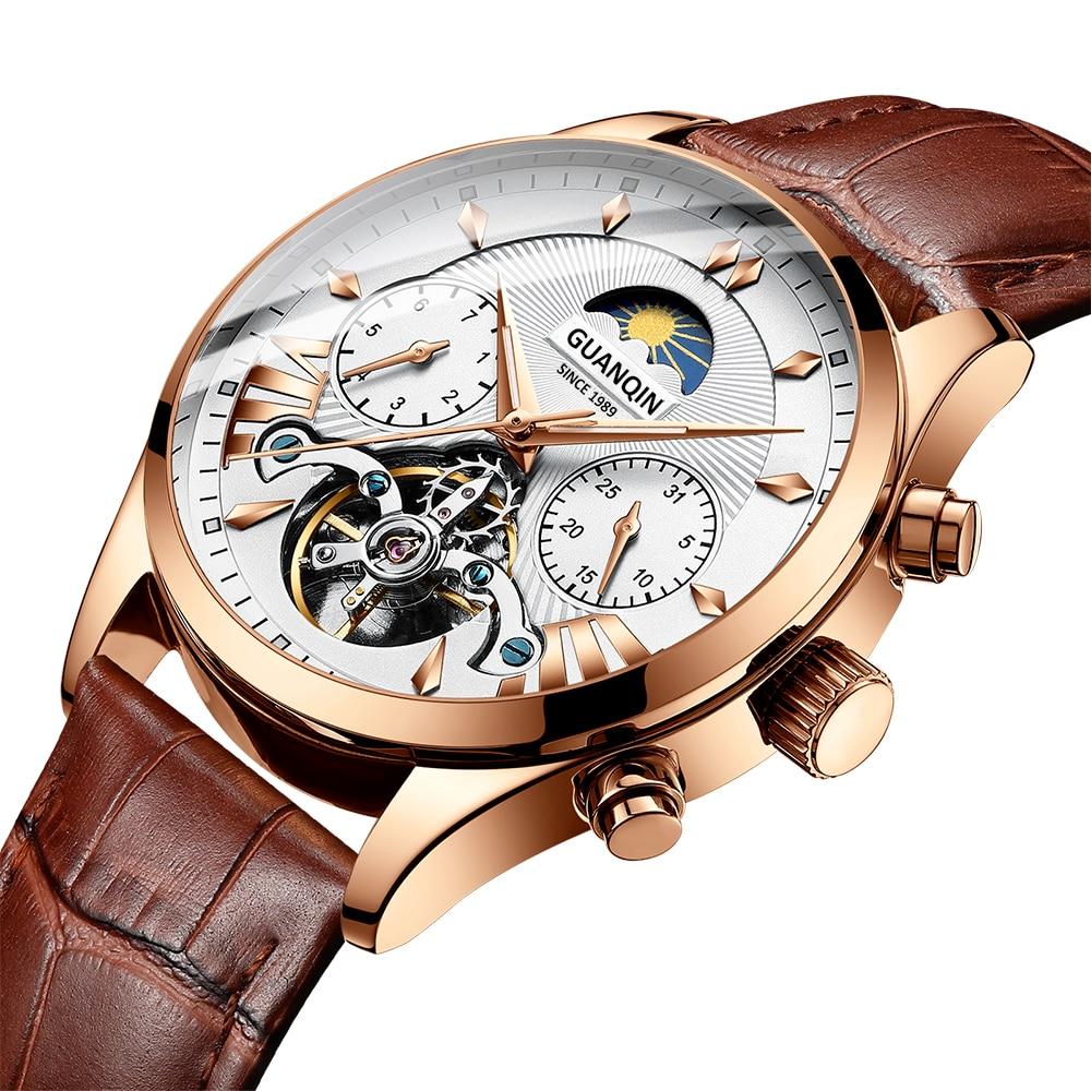 HTB1cIMtRhjaK1RjSZFAq6zdLFXaU GUANQIN 2019 clock men's/mens watches top brand luxury automatic/mechanical/luxury watch men gold tourbillon mens reloj hombre