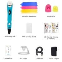 Dikale 3D Ручка новейшая версия 3D чертежный принтер Stift Печать карандаш Caneta трафареты пополнения PLA нити для малыша взрослых DIY подарок