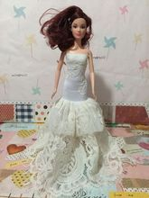 fashion for Barbie doll wedding dress princess wedding dress clothes big girl toys Gift Set Free shipping