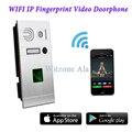 Android/IOS Controle Remoto Sem Fio WI-FI Sistema de Impressão Digital IP Vídeo Porteiro Intercom Sistema de Controle de Acesso Da Porta de Casa