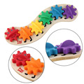 ¡ Caliente! precioso Conjunto de Engranajes de Palmer de Madera Creativa Combinación juguetes Para Niños Forma Cognición del Color para Los Niños de La Nueva Venta