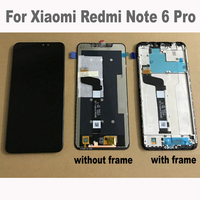 Tested AAA Quality LCD + Frame For Xiaomi Redmi Note 6 Pro LCD Display Screen Replacement For Redmi Note 6 Pro panel Assembly