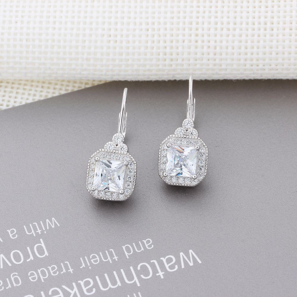DIP7 women fine jewelry,lad's delicate earrings for dinner,super shiny 925 sterling silver earring for beloved queen цена