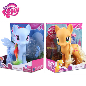 Image 1 - 22cm My Little Pony Toys Rarity Apple Jack Rainbow Dash Princess Celestia Action Figure Collection Model Doll For Kids Gifts
