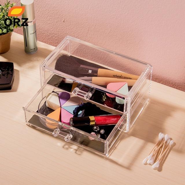 Aliexpresscom Buy ORZ Acrylic Jewelry Cosmetic Storage Display