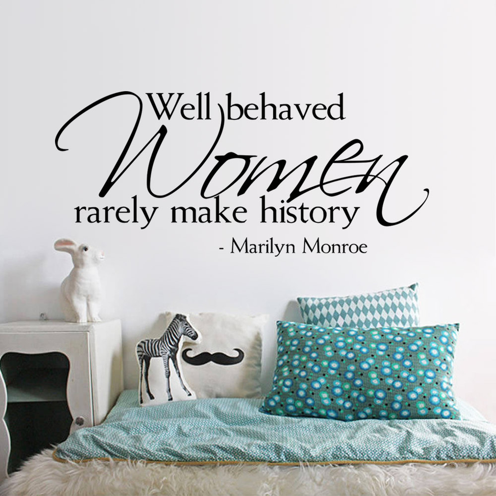 Aliexpress.com : Buy Fashion Marilyn Monroe Beautiful Girls Room Bedroom  English Encourage Quotes 3D Removable Wall Stickers Decals * From Reliable  Sticker ... Part 84