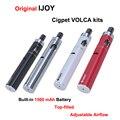 Ijoy cigpet volca 1500 mah starter kit original características de fluxo de ar ajustável tanque vaporizador cigarros eletrônicos com 1.8 ml