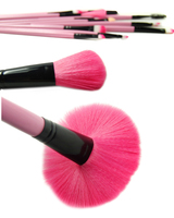 100 High Quality NEW Pink 32pcs Pro Soft Makeup Brush Set Cosmetic Brushes Kit Pouch Bag