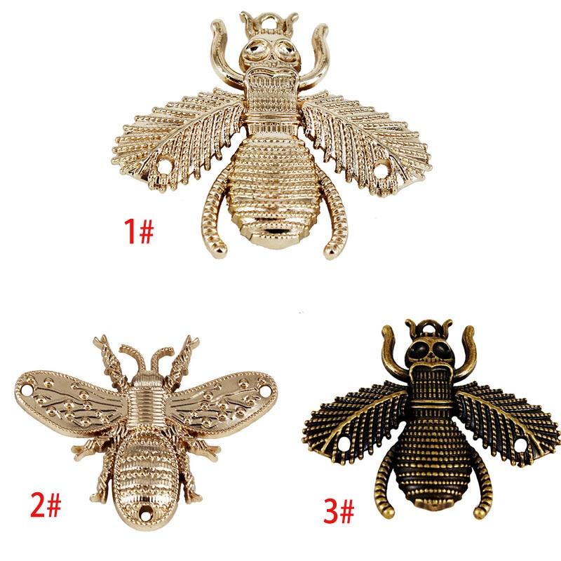 10Pcs Black/gold Metal Bee Rivets Charm Hook Clasps Sewing Garment ...