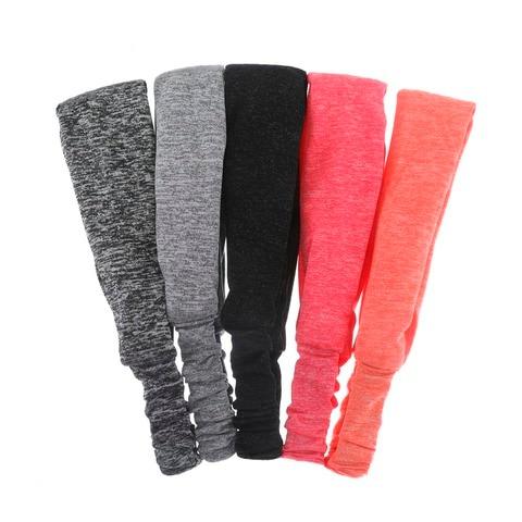 Haimeikang Unisex Solid Color Sport Yoga Headband Hair Elastic Bands for Men Women Stretch Outdoor Fitness Head Bands Hairband Multan