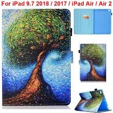 Для iPad 9,7 A1893 A1954 A1822 A1823 чехол милый кошелек сумка iPad A1474 A1475 A1476 Air 2 A1566 A1567 Прекрасный Принт с длинным рукавом держатель
