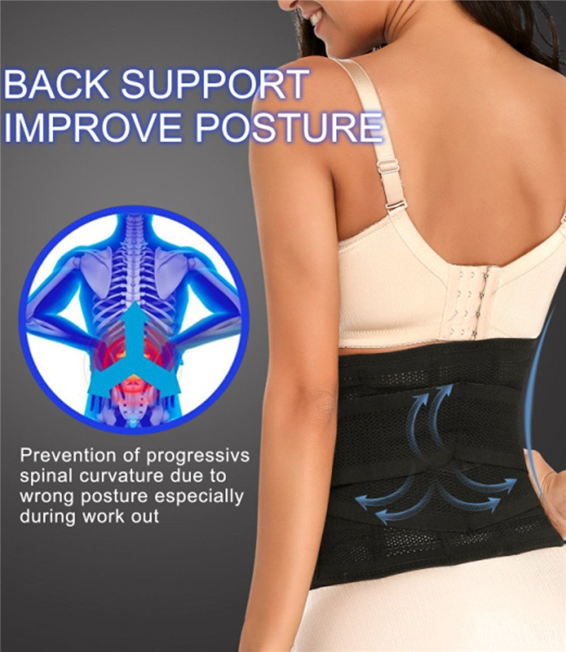 NINGMI Women Waist Trainer Modeling Belt Body Shaper Slimming Postpartum Belly Band Pulling Underwear Corsets Firm Velcro Strap (3)