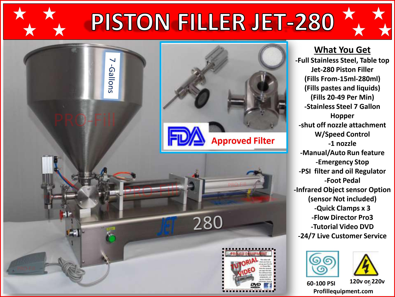 Pro-Fill JET280/300 Lotion Shampoo Cream Filler Honey Sauce