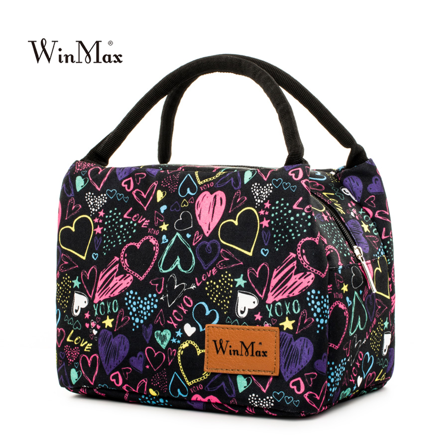 Winmax 2018 New Arrive Colorful Insulated Lunch Bag Portable Keep Food Safe Warm Big Thermal Cooler Business Launch Box  School
