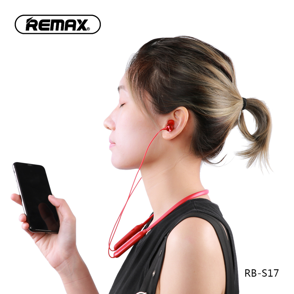 Minimalist Wireless Ear Hook Business Headset Non in Ear Headphone Compatible for Cellphone Blue REMAX Upgraded Bluetooth Earpiece Noise Cancelling Earbuds Smartphone