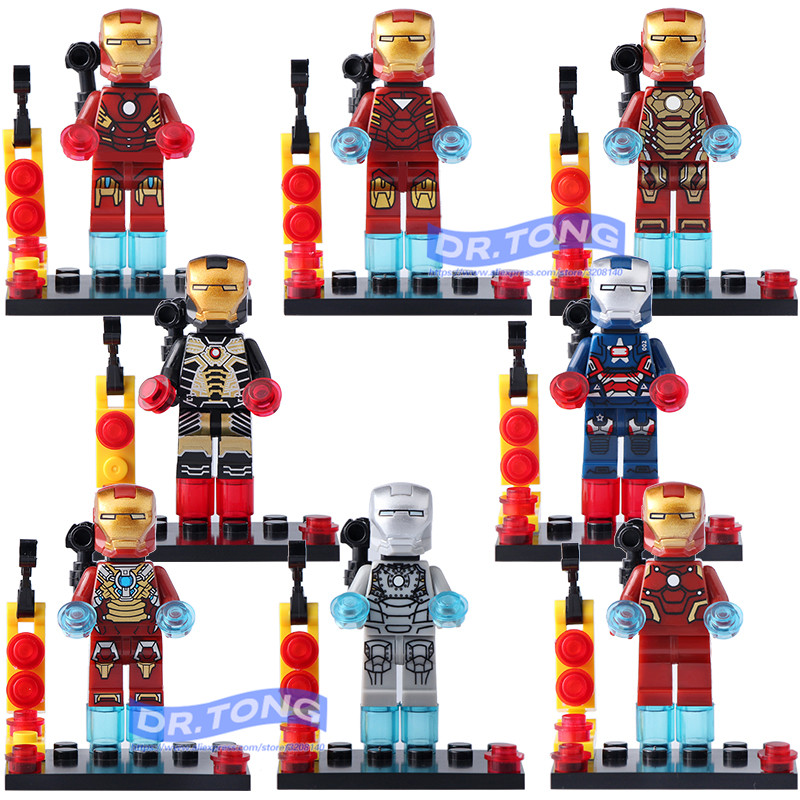 80pcs/lot BQ8805 Super Hero Avengers Iron Man Mark Figure Building Blocks Sets Model Bricks Toys Children Gifts the falcon marvel super hero sam wilson figure the avengers captain america building blocks sets model bricks toys for children