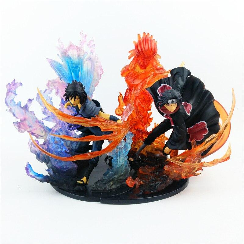 23 cm Anime Naruto PVC Action Figure Zéro Uchiha Itachi Feu Sasuke Susanoo Par Rapport Collection Modèle Jouet