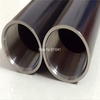 titanium thread tube titanium tubing with thread 40mm*5mm*500mm