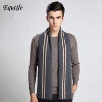 Top grade Men Business Wool Scarf Classic Stripe Knit Shawl Luxury Brand Thicken Warm Neckerchief Scarves For Male