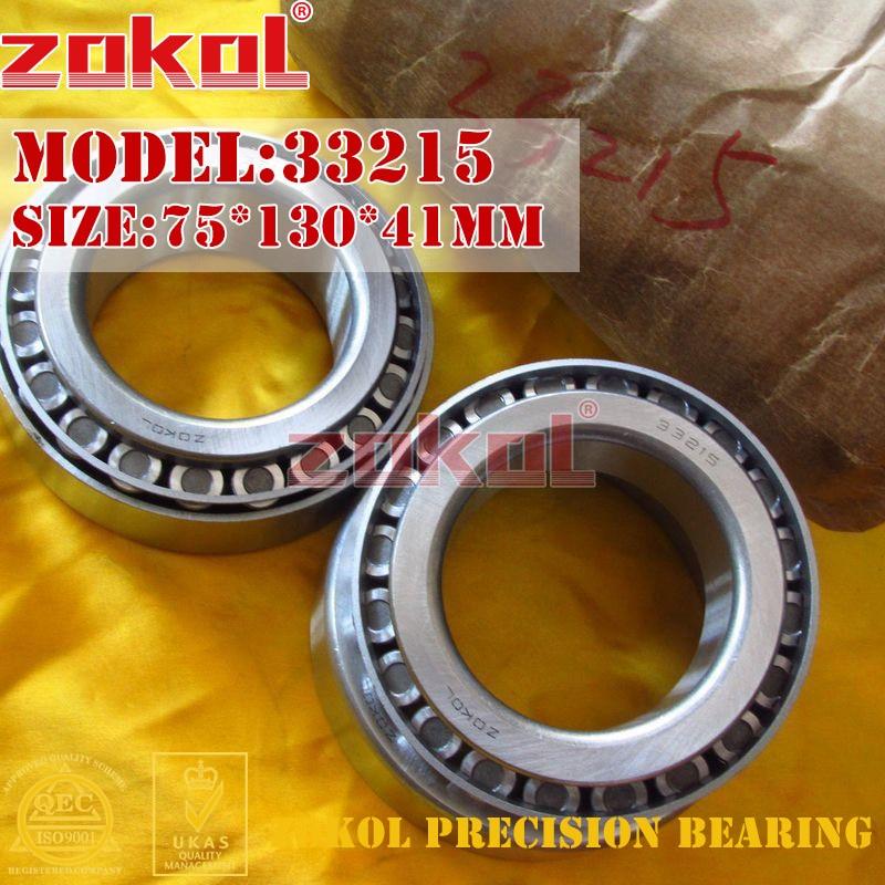 ZOKOL bearing 33215 3007215E Tapered Roller Bearing 75*130*41mm zokol bearing 32915 2007915e tapered roller bearing 75 105 20mm