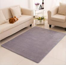 2017 New Arrival Solid Carpet For Living Room Sofa Area Mats Soft Rugs Non-slip Memory Cotton Home Decoration tapetes