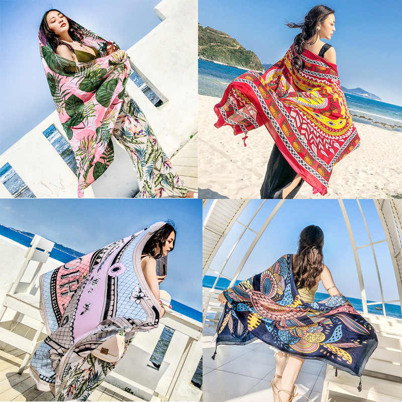 c0243f61e82 Detail Feedback Questions about 2018 Summer Print Silk Scarf ...