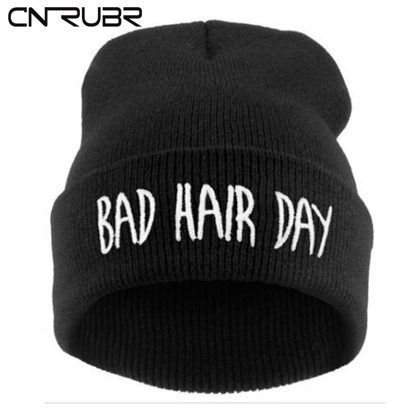 CN-RUBR Hot Sale! Winter Bad Hair bone Cap Men Brand hat Beanie Knitted Winter Hiphop Hats Women Fashion Caps Weave Swag 2017 winter women beanie skullies men hiphop hats knitted hat baggy crochet cap bonnets femme en laine homme gorros de lana