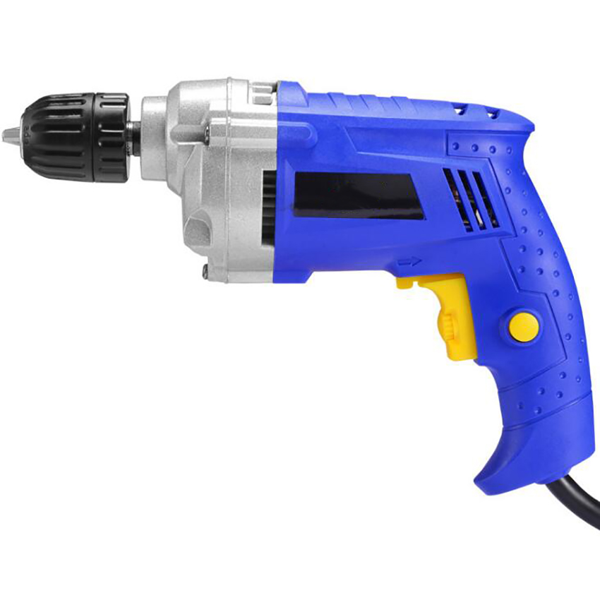 AC 220V 50hz 780W Handheld Electric Drill with 360 Degree Self-locking Chuck, Variable Speed Trigger Powerful Drill, 2-pin Plug