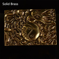 Retail 2016 Latest Styles High Quality Solid Brass 3D Flame Phoenix Cowboy Belt Buckle With Fashion