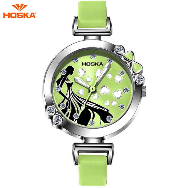 New Cinderella Christmas Costumes Matching Girl Watch HOSKA Brand Ultra Thin Fashion Waterproof Quartz Watch Gift H802S relojes