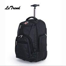 Letrend Мода Большой Ёмкость Бизнес Оксфорд Сумки на колёсиках дорожная сумка рюкзак Для женщин Тележка вести чемодан Колёса Trunk