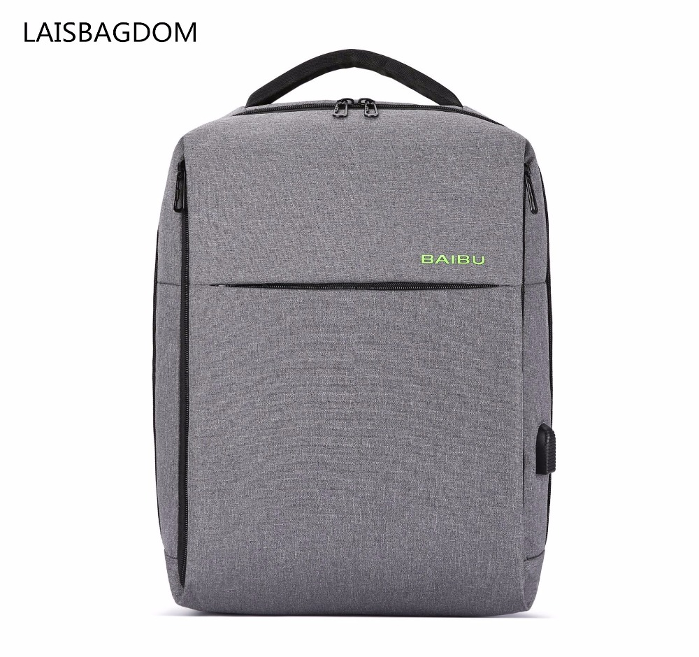 Anti-theft Backpack USB Charging Urban Life Style Polyester Business Travel Backpack Men Laptop Woman Waterproof Back Pack