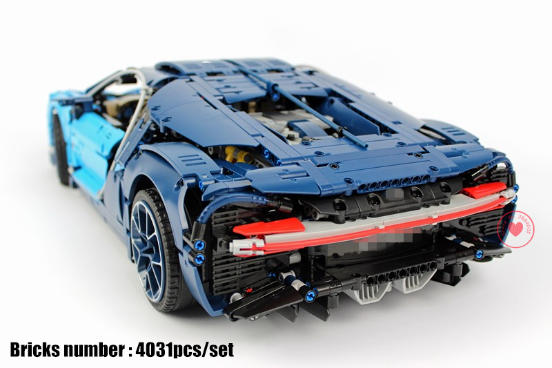 New Technic series Racing Blue Car fit legoings technic bugattied building chiron block Bricks Gift kid diy 42083 toys boy