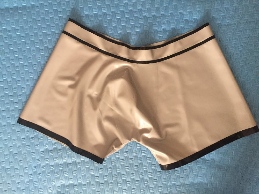 Latex Short Pants Rubber Latex Handmade Underwear For Man