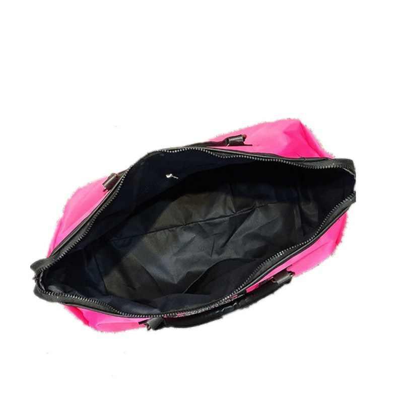 Bolso de Gimnasio Deportivo rosa con lentejuelas para mujer, bolso de entrenamiento para zapatos, bolso de entrenamiento de estilo europeo, bolso grande para equipaje de viaje, Rosa
