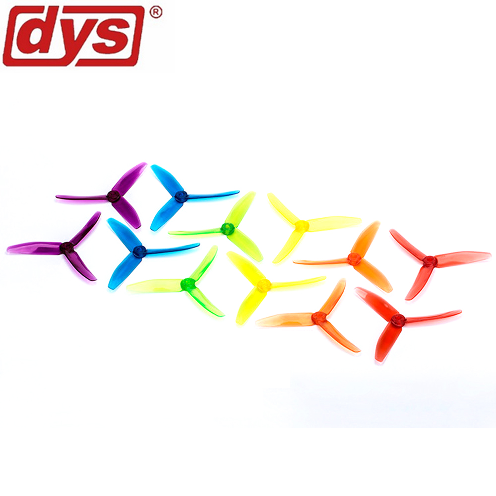 20pcs lot Original DYS 5040 XT50403 Tri Blade CW CCW Propeller FPV Prop PC Material w