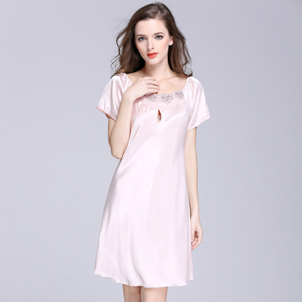 2018 sexy lingerie women short sleeve robe dress babydoll night sleepwear kimono dresses six colors