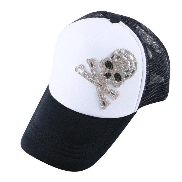 4d2f99eac7e9 € 5.25  Nuevo popular niño niña marca snapback gorra de béisbol niños de  malla rhinestone de la corona de lujo de encargo promoción netas ...
