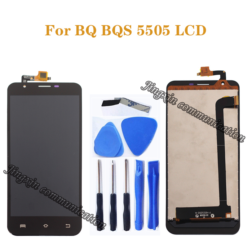"""5.5"""" for BQ BQS 5505 LCD dispaly +touch screen digital converter replacement for BQ S 5505 BQ S5505 LCD monitor repair parts-in Mobile Phone LCD Screens from Cellphones & Telecommunications"""