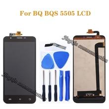 "5.5 ""para BQ BQS 5505 dispaly LCD + touch screen substituição conversor digital para BQ S 5505 BQ S5505 LCD peças de reparo do monitor"