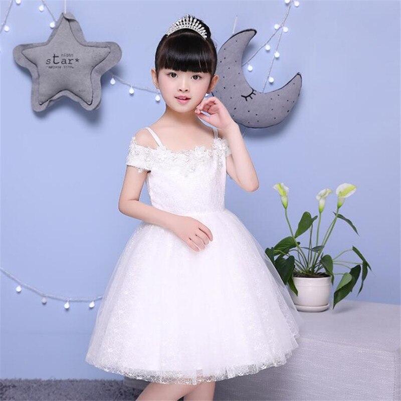 Haute qualité fleur fille robe de mariée soirée princesse Costume dentelle adolescentes vêtements livraison gratuite