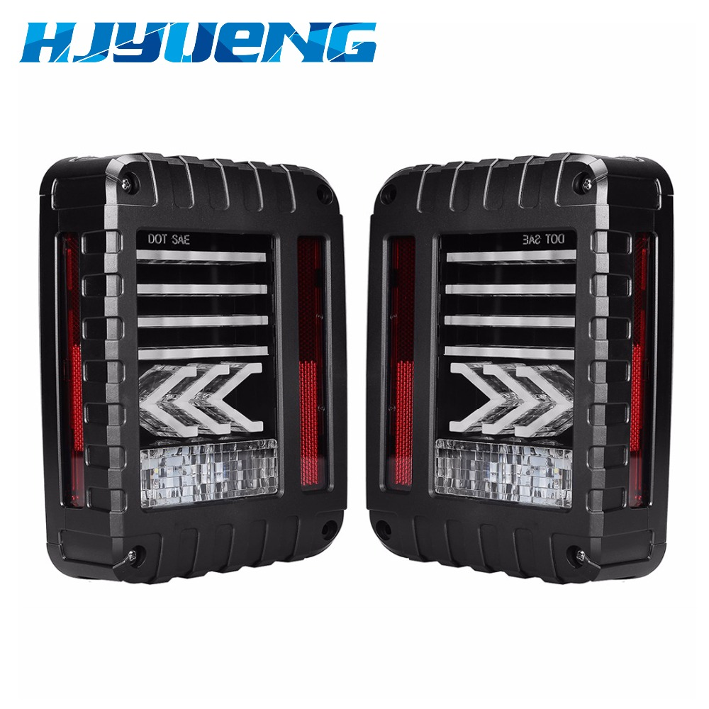 For Jeep JK LED Tail Lights Lamps With Reverse Brake Arrow Direction Taillight Fit Jeep Wrangler JK For Jeep LED Tail Light