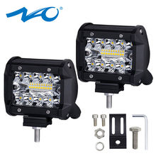 NAO LED Bar Work Light led 12V 60W Bar Bulb 24V Spot Flood Lights Trucks Led auto Fog Light for Offroad Car 4 inch(China)