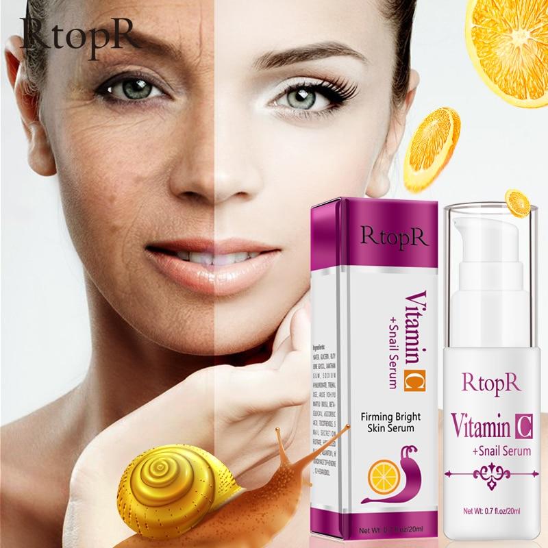 Vitamin C Snail Serum Rejuvenation Anti Wrinkle Firming Bright Skin Serum For Face Ance Treatment Snail VC Collagen Repair Serum