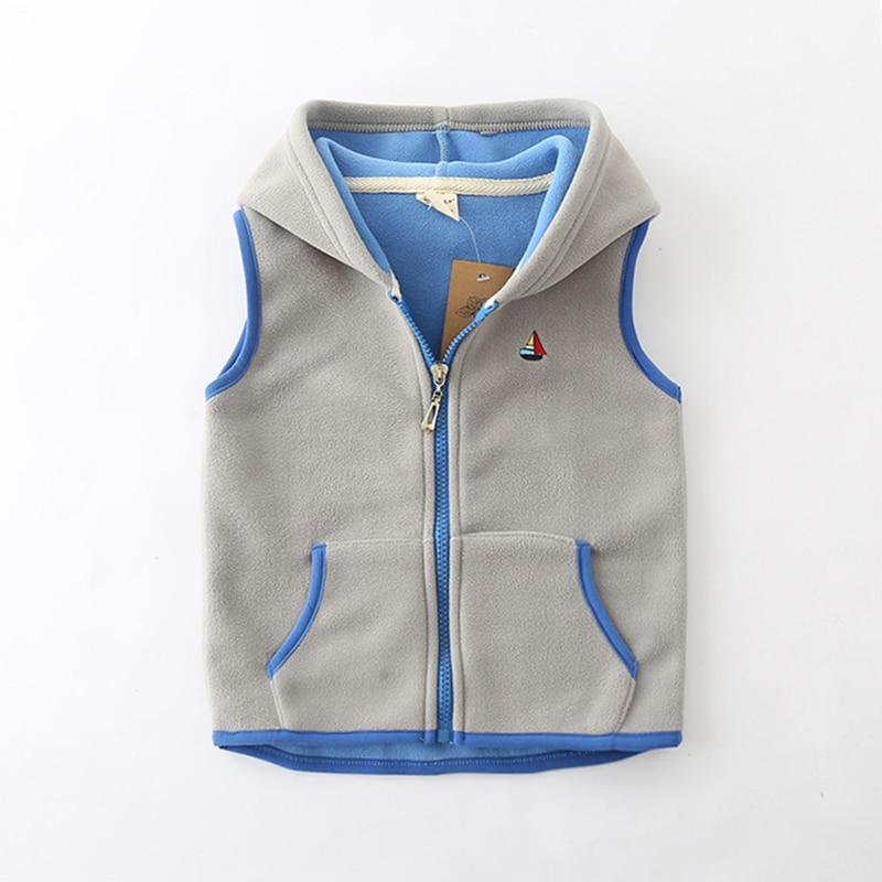 Sundae Angel Children Vest For Girl Boys Waistcoat Hooded Warm Polar fleece Sleeveless Outerwear Kids Baby Vests Coat For 18M-7Y 3