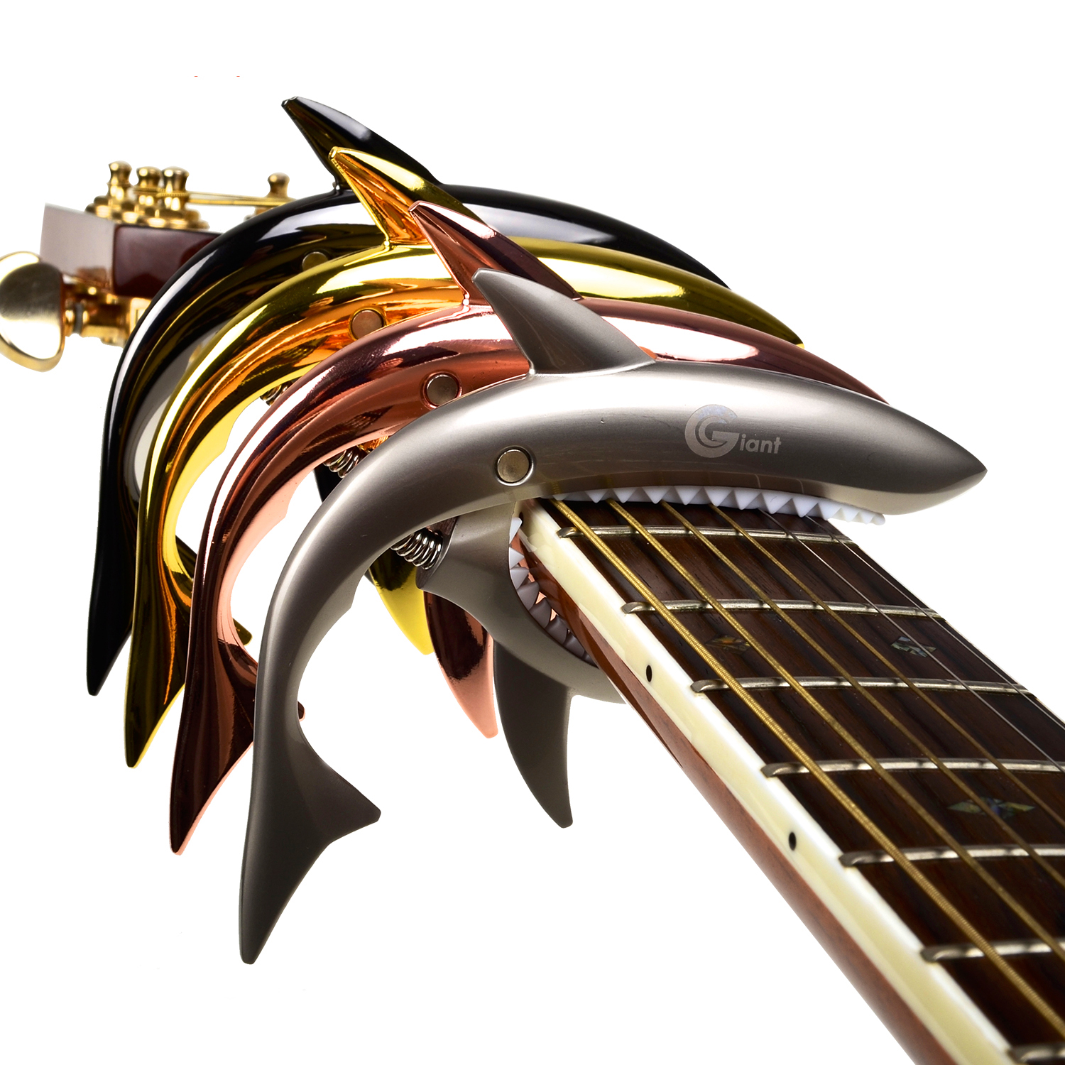 Acoustic And Electric Designs: Zinc Alloy Shark Capo Cool Design For Acoustic Electric