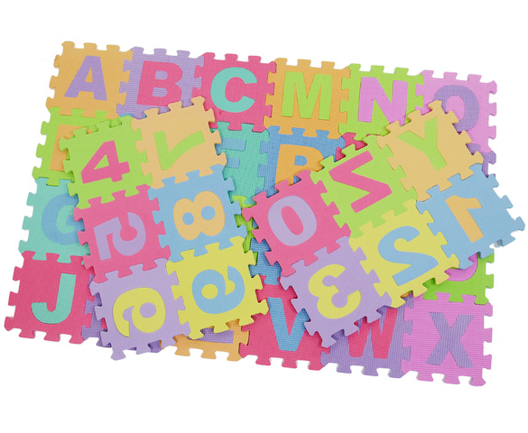 36pcs EVA Foam Alphabet Letters Number Mat Baby Kids 3D Puzzles Educational Toys For Children's Soft Developing Crawling Rugs