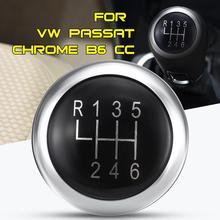 Рукоятка Рычага рычага переключения передач эмблема Накладка крышки 6 скоростей для VW Passat B6 B7 CC