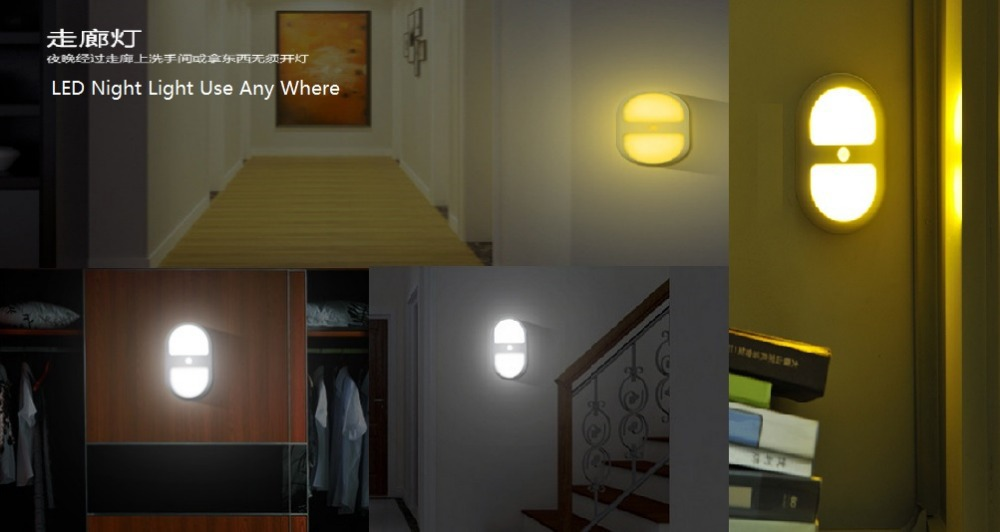 Aliexpress Com Buy Goeswell Bedroom Decoration Motion Sensor Led Night Light Battery Powered Wall Path Lamp Perfect For Bathroom Basement Laundry From