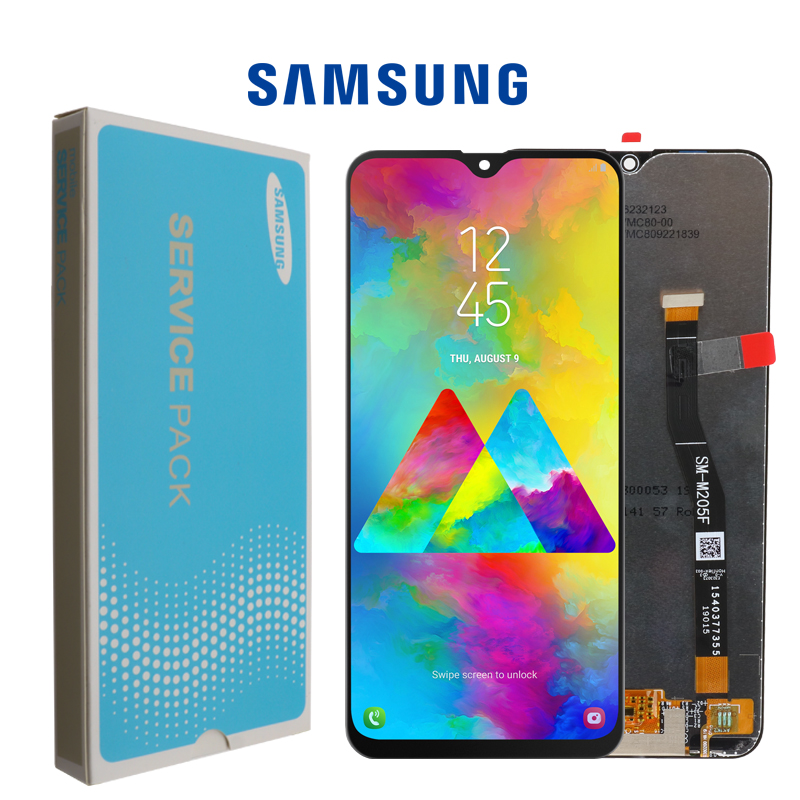SUPER AMOLED 6 3 LCD For SAMSUNG Galaxy M20 2019 SM M205 M205F LCD Display Touch SUPER AMOLED 6.3'' LCD For SAMSUNG Galaxy M20 2019 SM-M205 M205F LCD Display Touch Screen Digitizer Assembly replacement parts